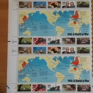 1990 Vintage US stamps Unused: 1941 A World at War